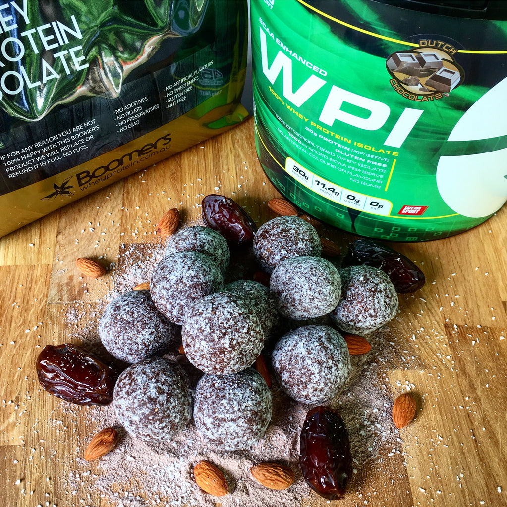 Chocolate Fudge Protein Bliss Balls