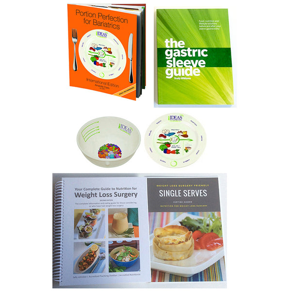 Sleevers Portion Plate & Bowl Bariatric 4 Book Pack