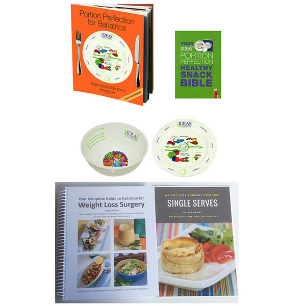 Portion Plate & Bowl Bariatric 4 Book Pack
