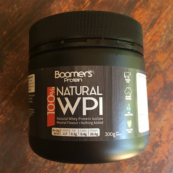 300g Boomers 100% Whey Protein Isolate