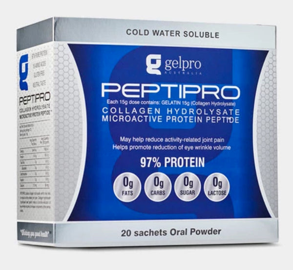 GelPro Peptipro Non-Flavoured Tasteless Protein Powder - 1 serve Sachets