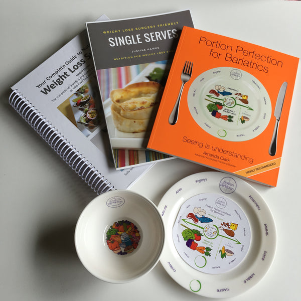 Portion Plate & Bowl & Recipe Book Pack
