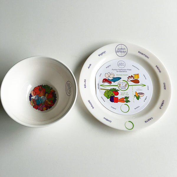 Melamine Portion Plate & Bowl Only Pack