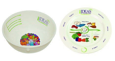 Porcelain Portion Plate & Bowl Only Pack