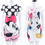 MICKEY MOUSE PRINT MINI DRESS