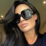 OVERSIZED SUNGLASSES WOMENS SHADES ITALY LUXURY DESIGN