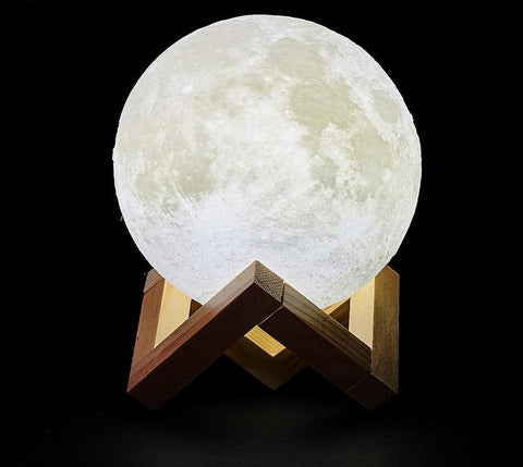 LED MOON LAMP BEDROOM GLOW NIGHT LIGHT