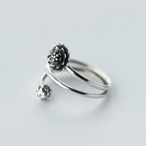 LOTUS STERLING SILVER ADJUSTABLE RING