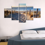 BEACH SEASHORE WALL ART 5 PANEL HD CANVAS PRINT