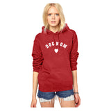 CAT MOM HEART HOODIE COTTON SWEATSHIRT