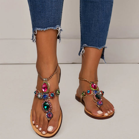 BOHO DESIGNER JEWELED SANDALS