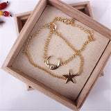 STAR AND MOON BRACELET PAIR