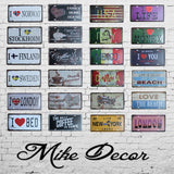 VINTAGE LICENSE PLATE SIGNS METAL HOME OFFICE BUSINESS WALL ART
