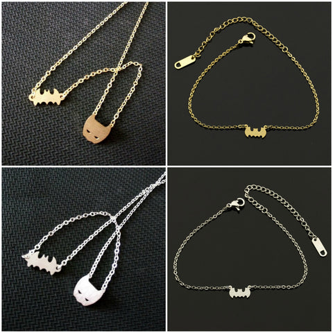 BAT NECKLACE / ANKLET COMBO