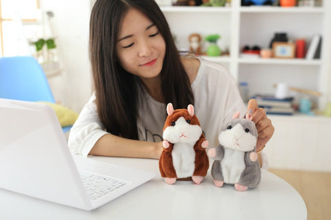 TALKING PLUSH HAMSTER KAWAII STUFFED ANIMAL