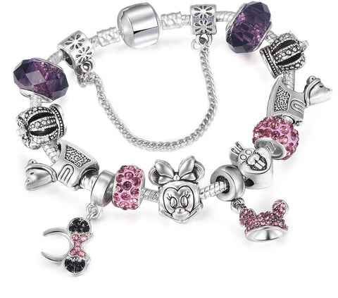 MINNIE CHARM BRACELET FOR MICKEY FANS
