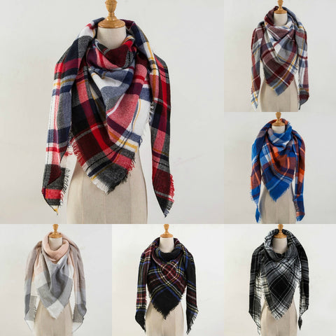 PLAID DESIGNER SCARVES
