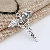CADUCEUS NECKLACE MEDICAL SYMBOL PENDANT FOR NURSES AND DOCTORS