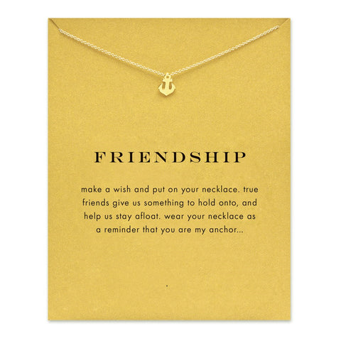 ANCHOR FRIENDSHIP NECKLACE