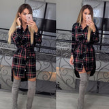 PLAID FALL DRESS