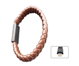 LEATHER PHONE CHARGER CORD BRACELET FOR ANDROID IPHONE