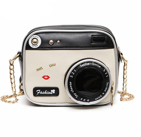 CAMERA THEME CLUTCH PURSE HANDBAG