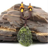 RAW MOLDAVITE HEALING PENDANT NECKLACE