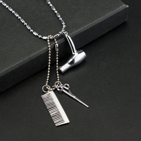 HAIR STYLIST HAIR CARE TOOLS NECKLACE