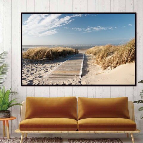 BEACH WALK WALL ART HD CANVAS PRINT