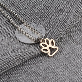 DOG PUPPY PAW RESCUE PENDANT NECKLACE
