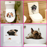 DOG 3D PVC HD STICKER DECALS WALL ART