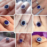 SEPTEMBER QUEEN RING SAPPHIRE STONE STERLING SILVER BAND