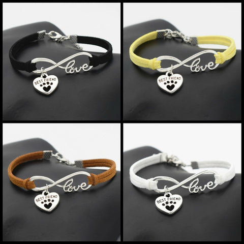 DOG PUPPY BEST FRIEND INFINITY BRACELET