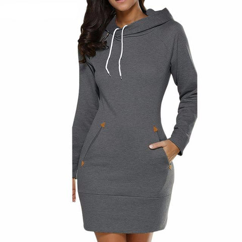 HOODED FALL DRESS