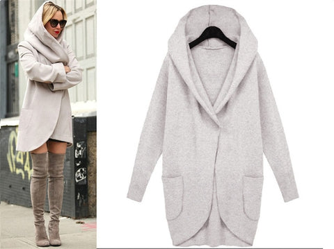 DESIGNER HOODED COAT