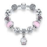 KITTY CAT CHARM PENDANT BANGLE BRACELET