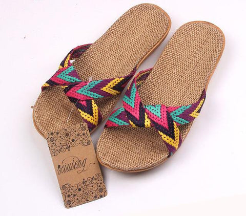 BOHO CROSS BELT HOUSE SLIPPER SANDALS