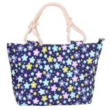 FLORAL FLOWERS CANVAS MESSENGER TOTE BAG
