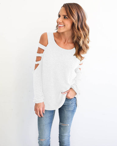 HOLLOW OUT LONG SLEEVED SHIRT