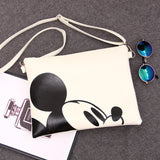 MICKEY MOUSE LEATHER MESSENGER PURSE SHOULDER BAG