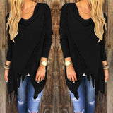 FALL PULLOVER KNITTED LONG SLEEVE BLOUSE