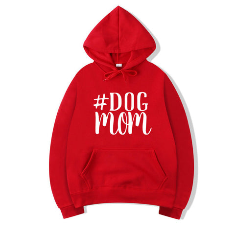 DOG MOM HOODED SWEATSHIRT HOODIE