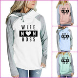 WIFE MOM BOSS HOODIE SWEATSHIRT
