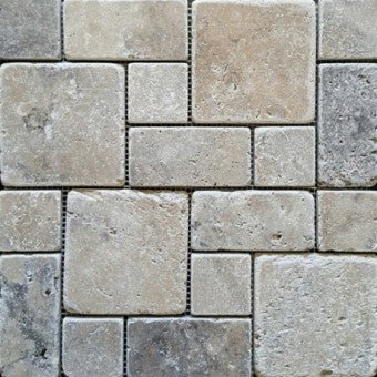 French Pattern Travertine Stone Pavers Outlet In Sydney
