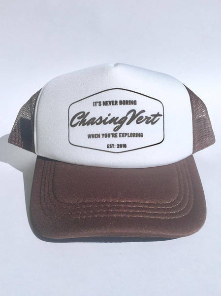 Trail Trucker - Brown / White.