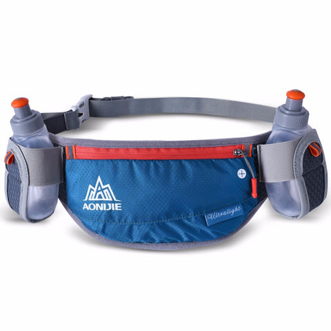Waist belt with storage and bottle holder plus 2 bottles.