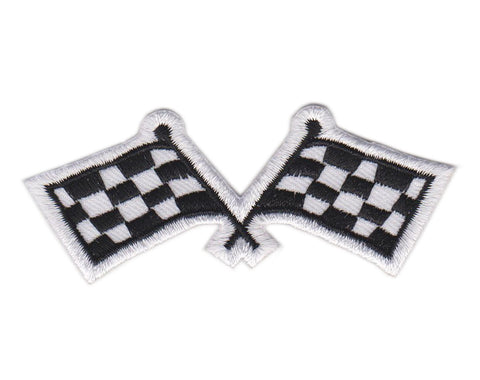 Checkered Flags Racing Motorcyle Biker Jacket Vest Patch