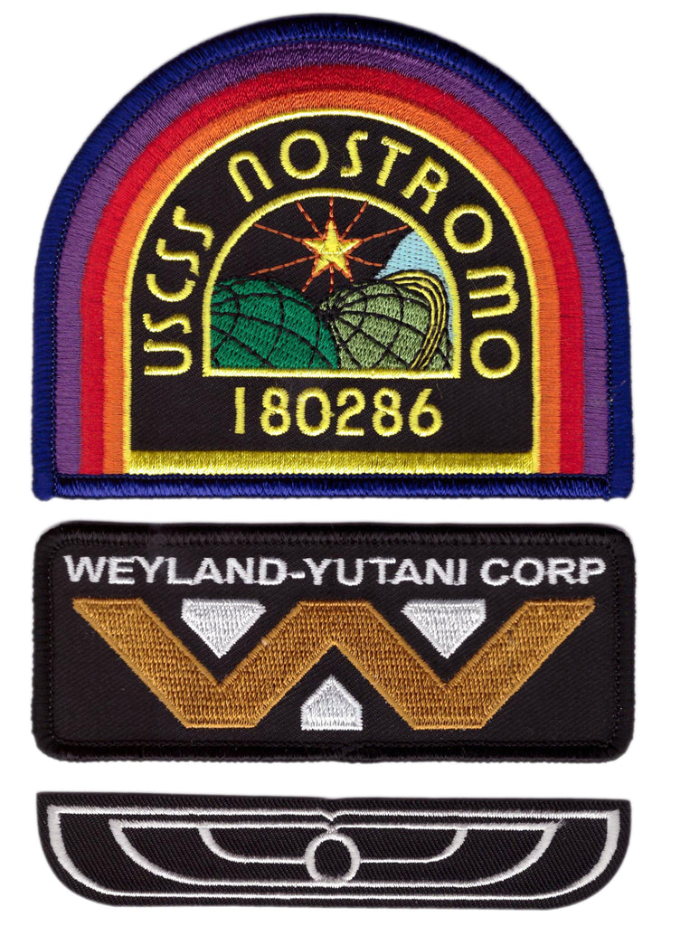 3 Patch set - Weyland Nostromo USCM Crew Costume Uniform