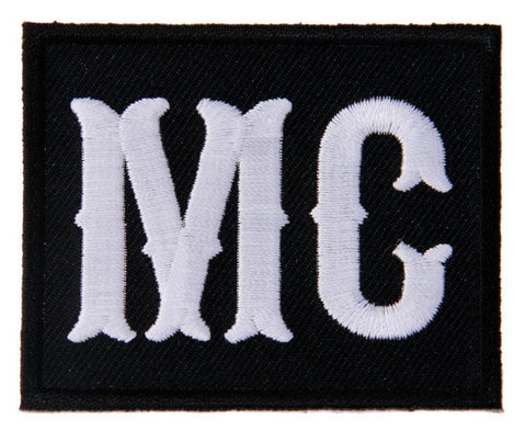 White Text MC Motorcycle Club Member Biker Jacket Vest Patch - Titan One