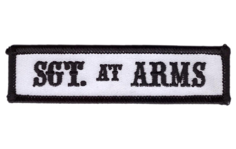 White Sgt at Arms MC Club Biker Jacket Patch - Titan One